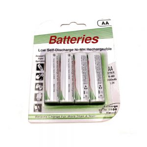 AA NiMH Low self discharge batteries